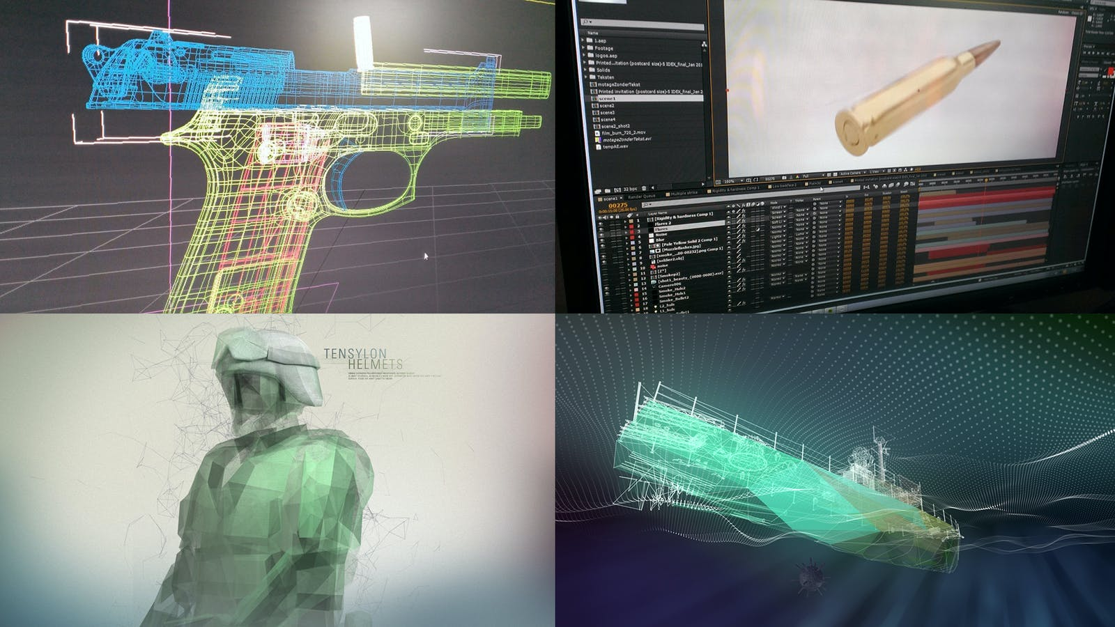 DuPont Tensylon 3D animation boards