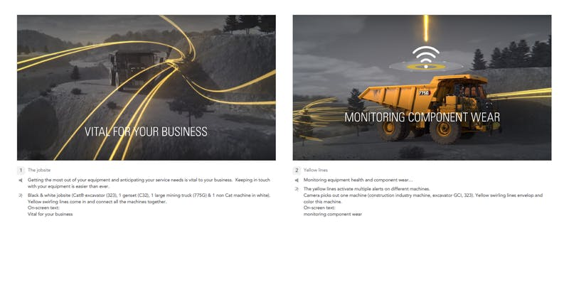 Caterpillar connectivity story G1