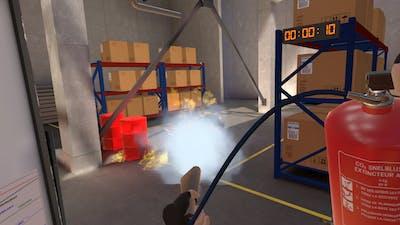 Fire fighting in VR