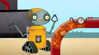 On rust and robots cartoon animation