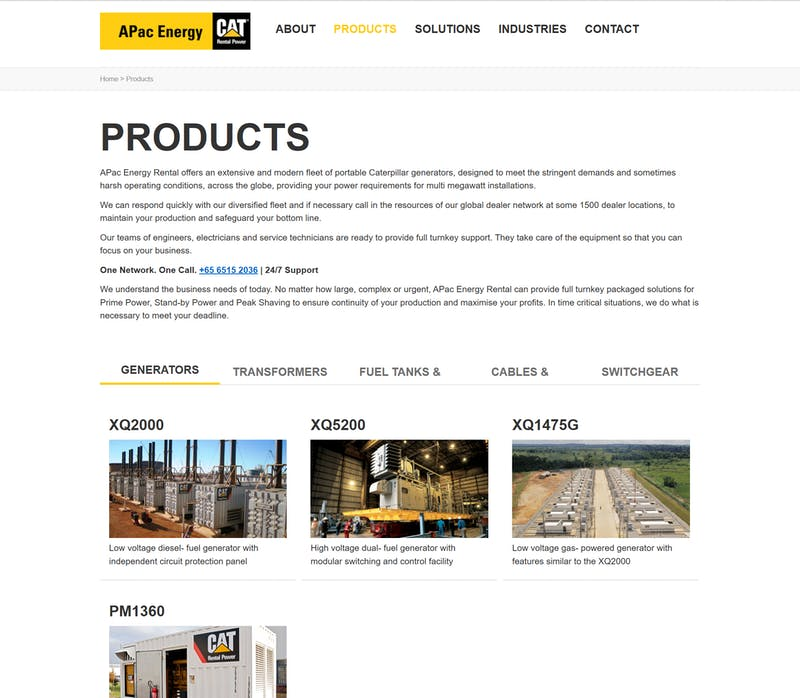 APA Cenergy products page