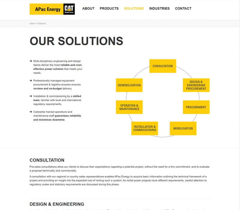 APA Cenergy solutions page