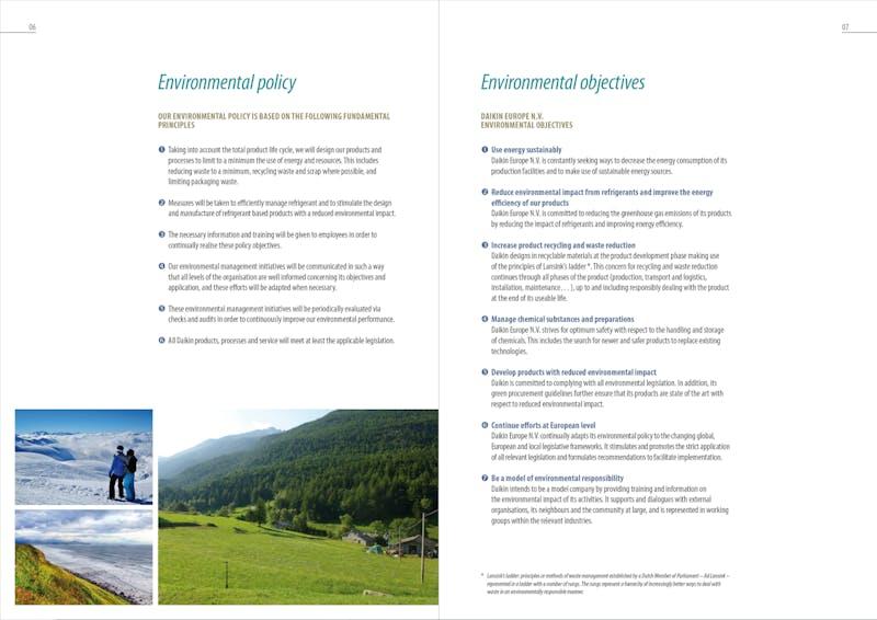 Daikin environmental report G1