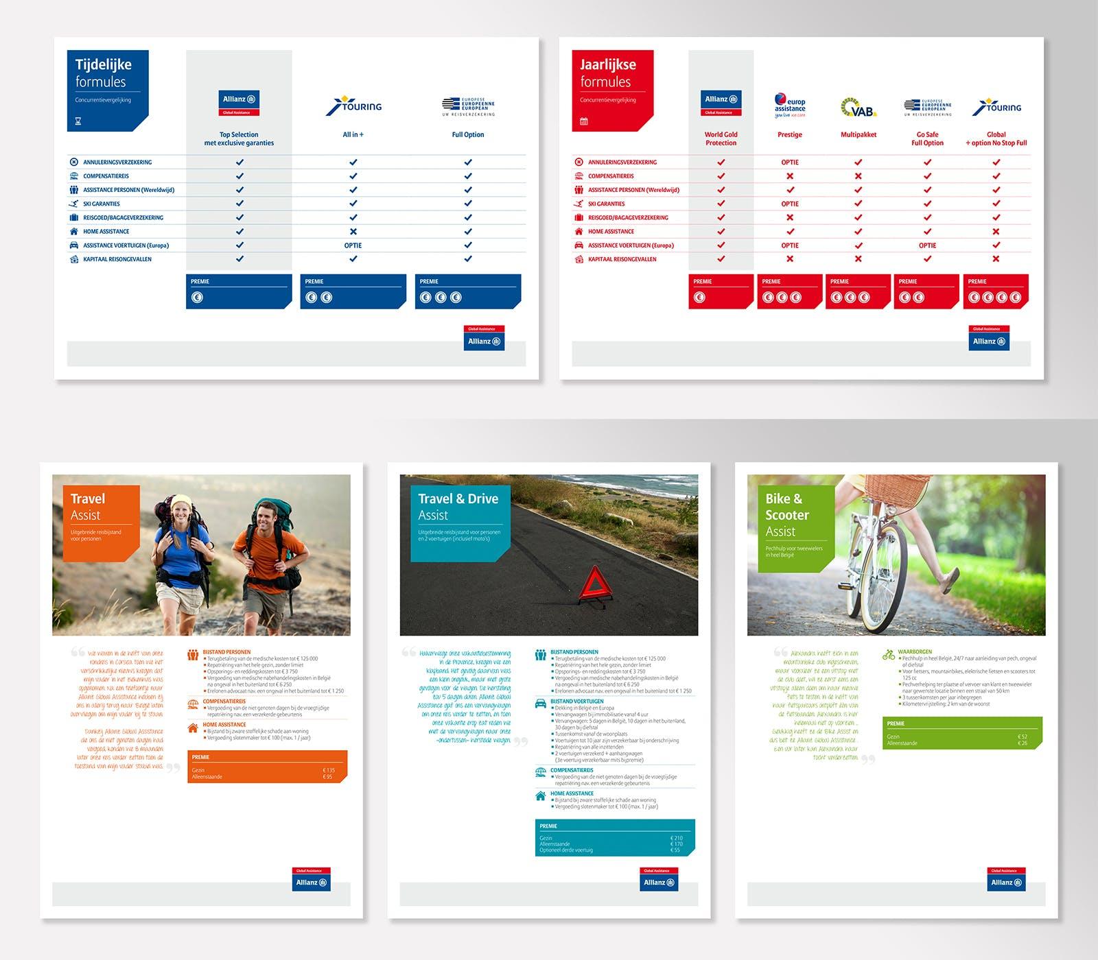 Allianz printed matter samples