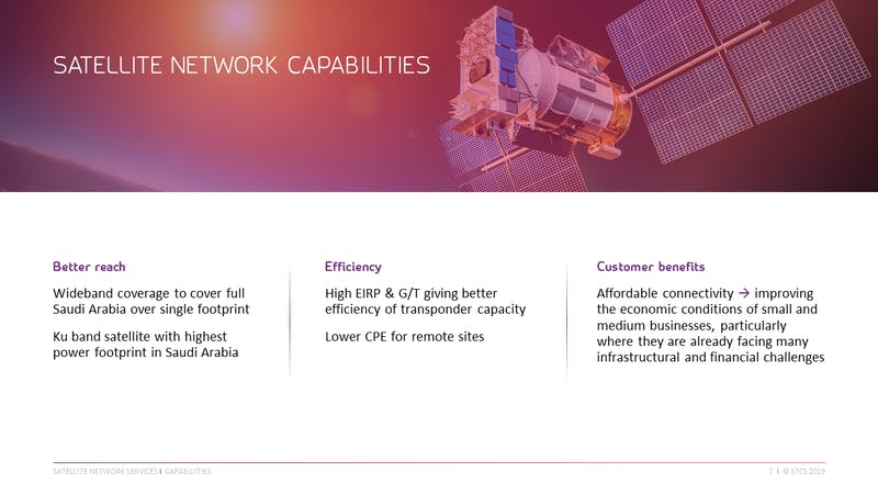 STC satellite services slide G3