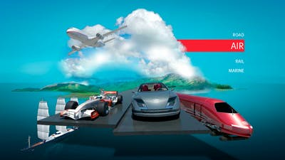 Transportation segment 3D website