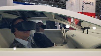 Een VR ritje met gelamineerd glas