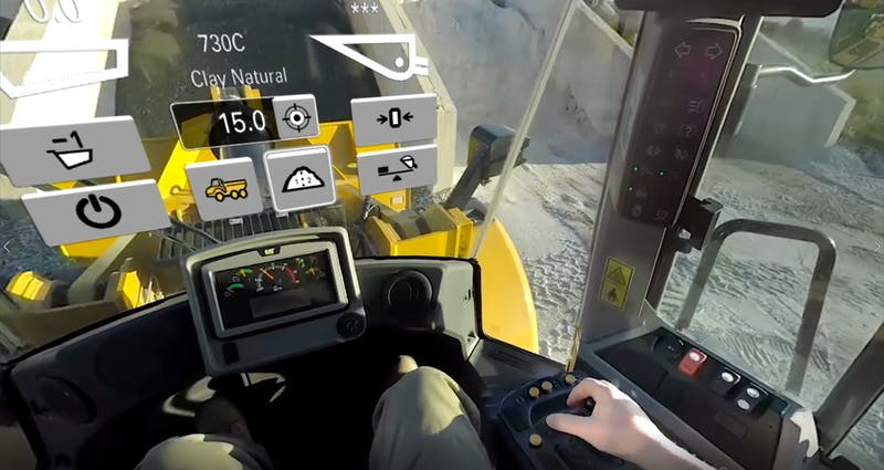 Caterpillar VR new models experience G3