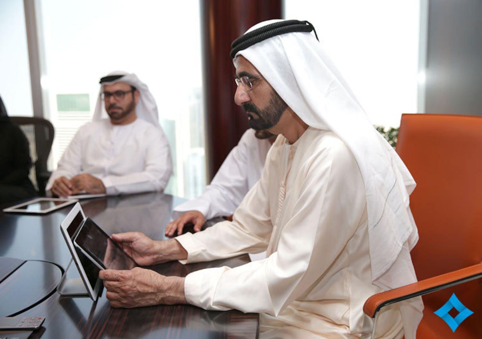 Sheikh Mohammed uses B·U·T's iPad app
