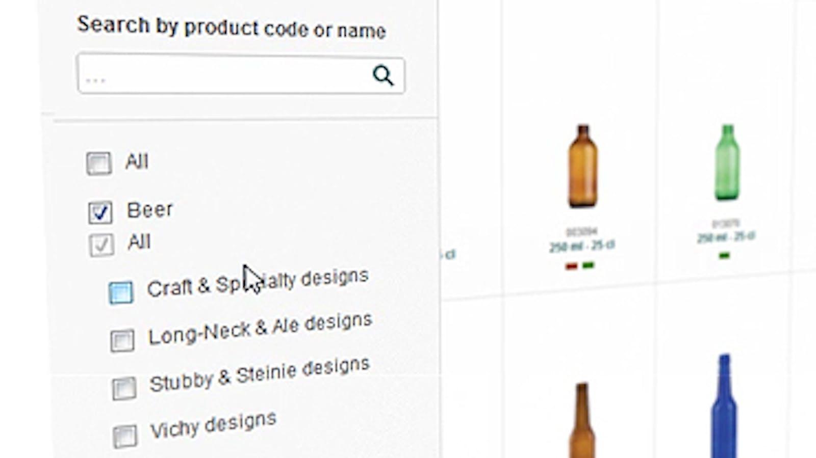 O-I online glass catalog