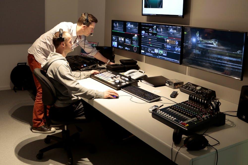 Webinar services control room