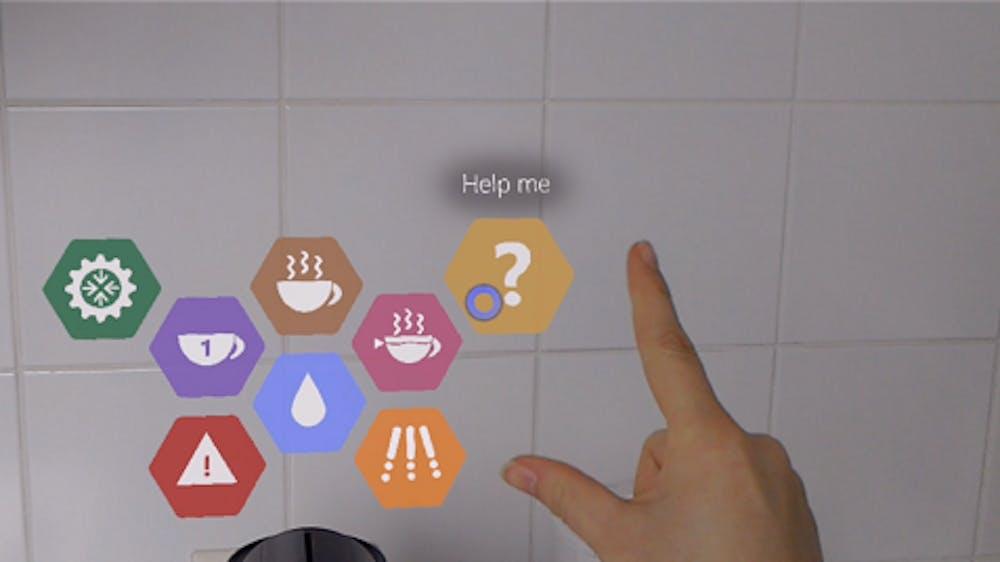 Hololens coffee machine app