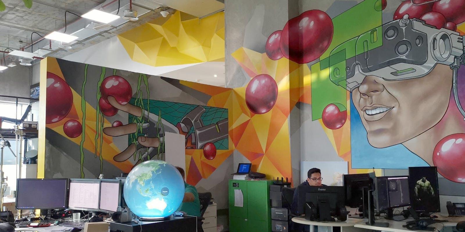 VR application development office