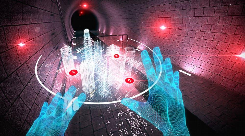VR service Fluvius 3 D world
