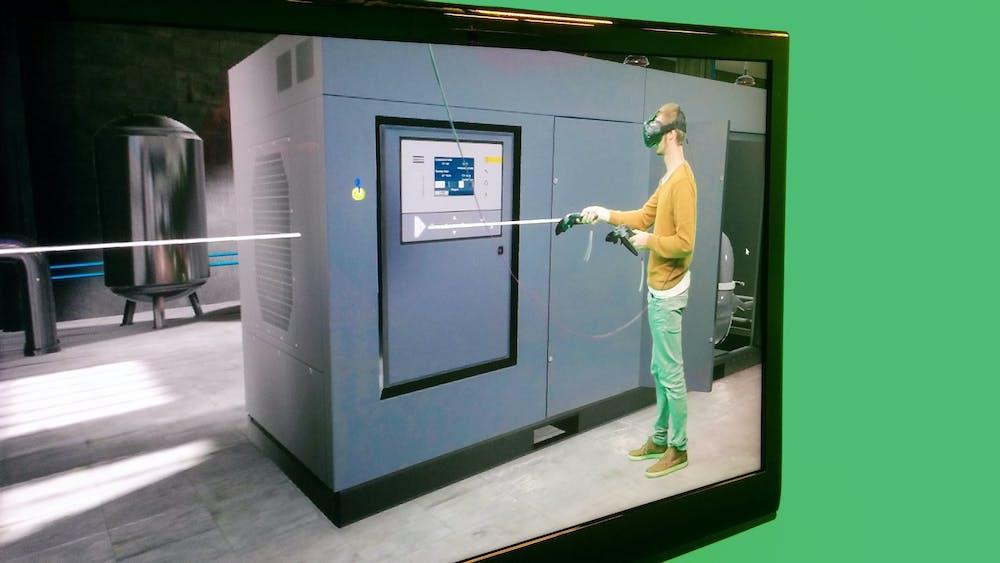 Virtual studio shoots VR